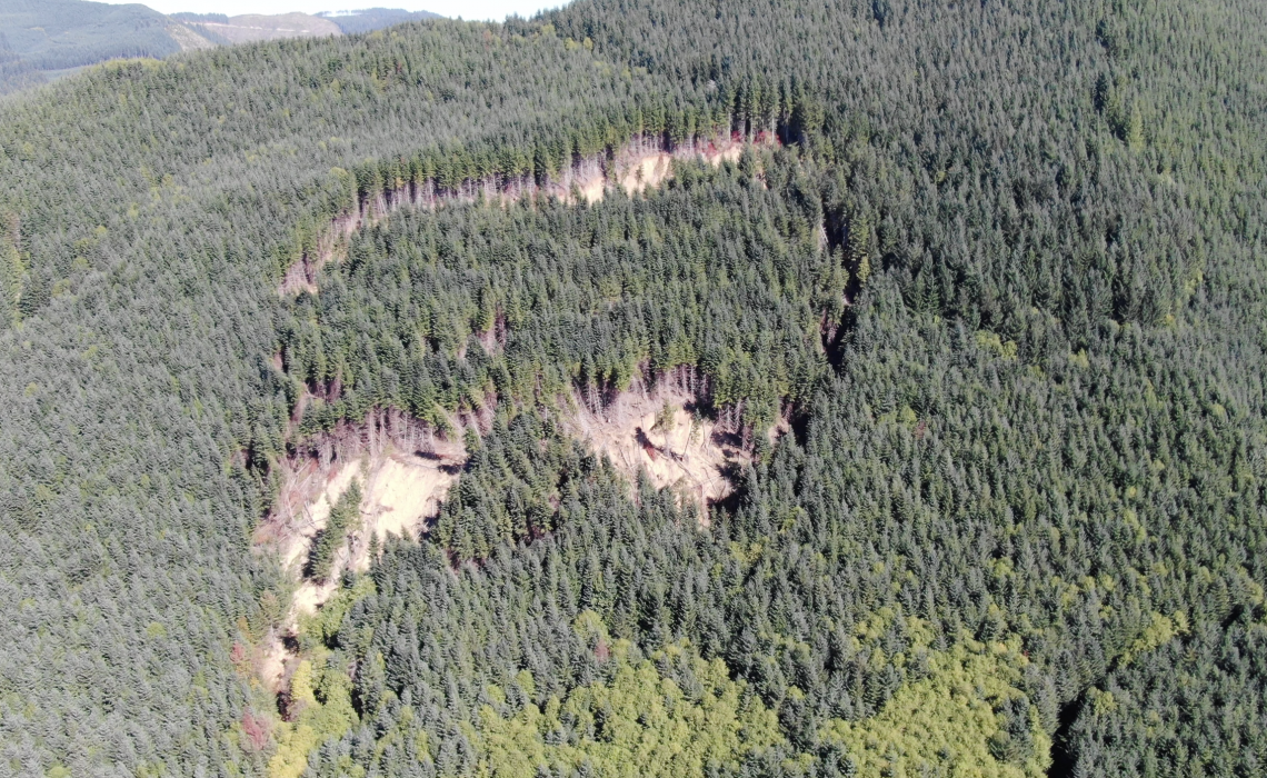 3D Drone Scan of Fall Creek Landslide